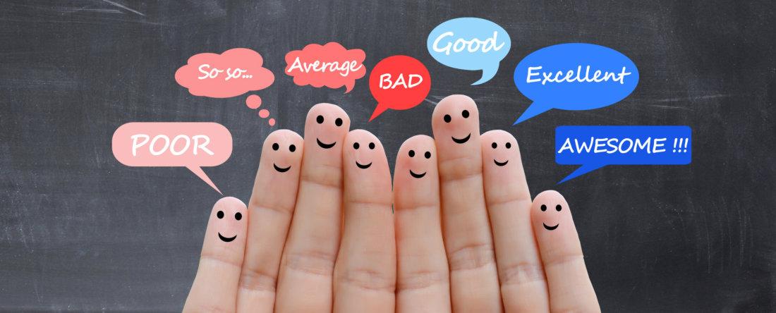Customer satisfaction scale and testimonials